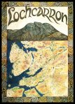 Lochcarron Poster, A detailed Map Poster. A2 42 x 60 cm. 150g/m glossy. £5. P & P £3.60