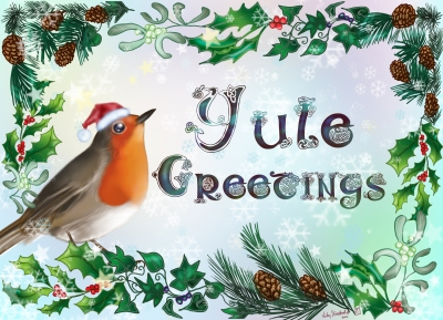 Robin Yule Card. A5 with envelope & cellophane bag. £2.20 each. Postage 65p ( combined postage for multiple orders available )