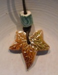 Ivy leaf and bead Pendant. £5, £1.50 postage to Uk