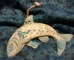 Fish Wall hanger. Turquoise, £10 each, postage to UK £2.85.