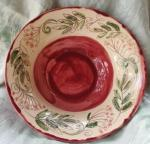 rowan red bowl. 8cm high by 22cm across. £40. £2.85 postage to UK (BP15)